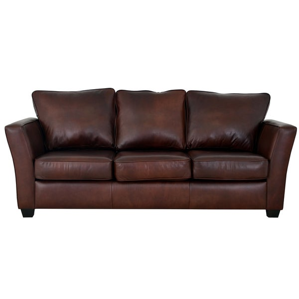 Made To Order Bridgeport Genuine Top Grain Leather Sofa