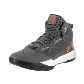 Under Armour Men's Jet Mid Grey Synthetic Leather Basketball Shoes