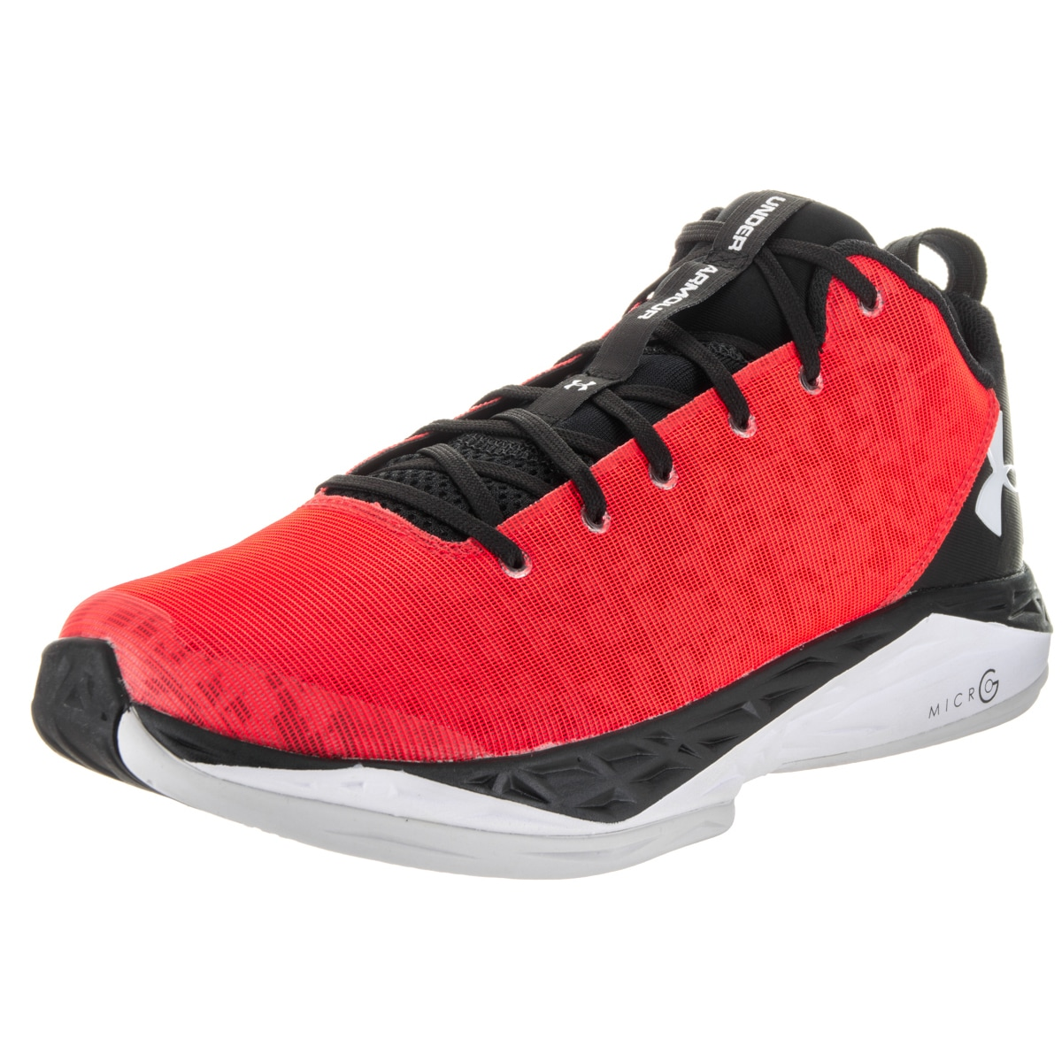Under Armour Men's Fire Shot Red Mesh Low Basketball Shoe...