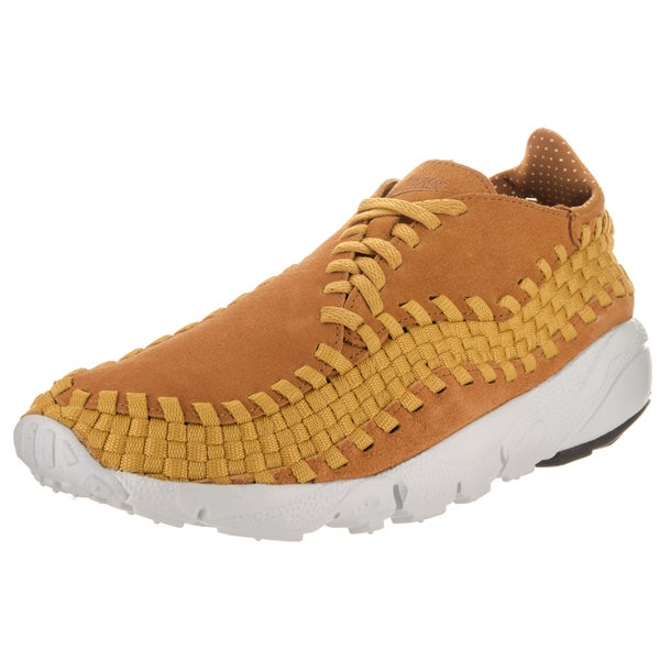 online store 8a3a6 0b205 Nike Men  x27 s Air Footscape Woven NM Gold Suede Casual Shoes