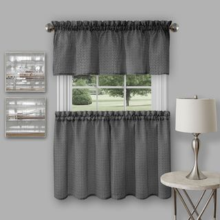 Achim Richmond Window Kitchen Curtain Tier Pair and Valance Set (As Is Item)