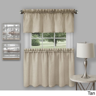 Richmond Window Kitchen Curtain Tier Pair and Valance Set