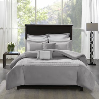 Madison Park Carlton Grey 7 Piece Duvet Cover Set