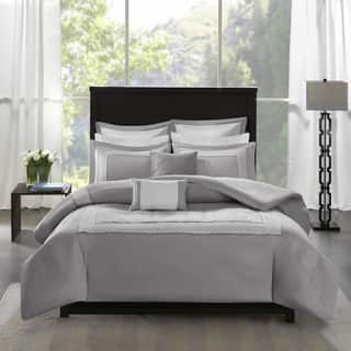 Madison Park Carlton Grey 7 Piece Duvet Cover Set 2 Options Available