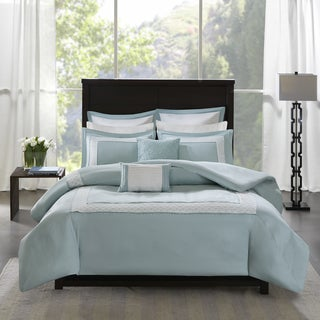 Madison Park Carlton Aqua 7 Piece Duvet Cover Set