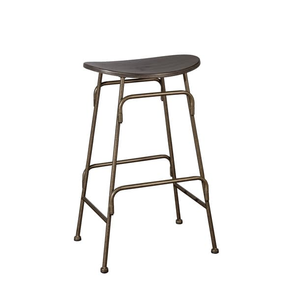Hillsdale Furniture Mitchell Black Wood and Old Bronze Metal Stationary Backless Counter Stool  sc 1 st  Overstock.com & Hillsdale Furniture Mitchell Black Wood and Old Bronze Metal ... islam-shia.org