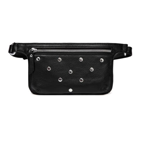 Vicenzo Leather Jacey Studded Leather Waistbag