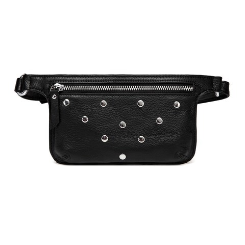 Vicenzo Leather Jacey Studded Leather Waistbag