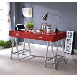 Acme Furniture Coleen Laminate Wood and Chrome 2-drawer Desk