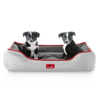 Brindle Waterproof Reversible Bolster Dog Bed