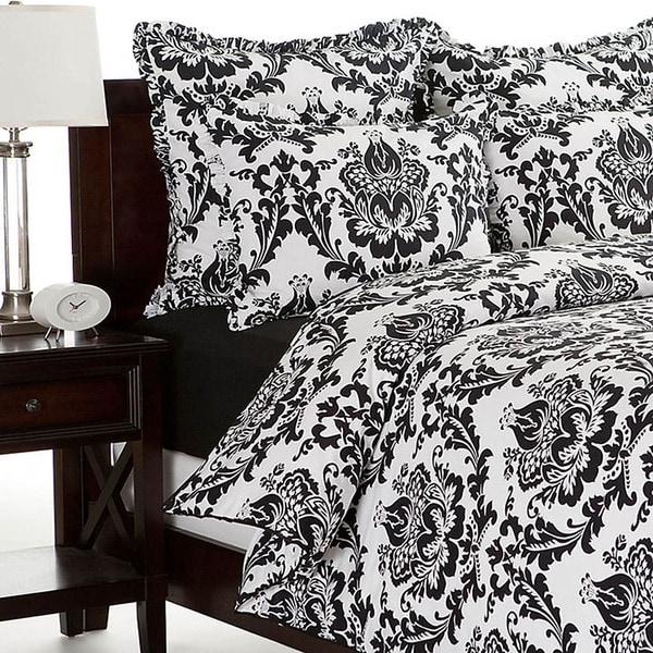 Morton Cotton Black and White Duvet Cover