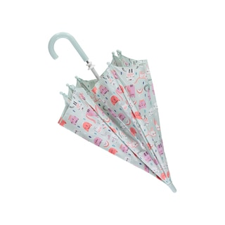 Rockin Baby Girls' Grey Print Umbrella