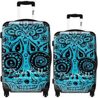 iKase Frida Kahlo Skull 2-piece Hardside Spinner Luggage Set