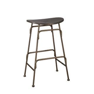 Hillsdale Furniture Mitchell Black/Bronze Metal/Wood Backless Bar Stool