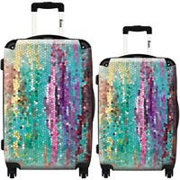 iKase Morninghas Broken 2-piece Fashion Harside Spinner Luggage Set
