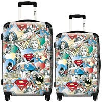 iKase 'Girl Superheroes' 2-piece Fashion Harside Spinner Luggage Set