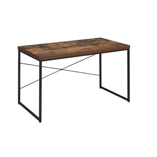 Acme Furniture Bob Black Metal and Wood Desk