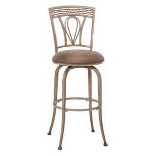 Hillsdale Furniture Napier Aged Ivory With Taupe Faux Leather Swivel Counter Stool