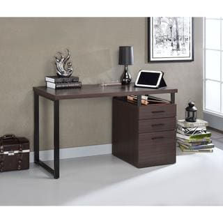 Acme Furniture Coy Desk With Reversible File Cabinet