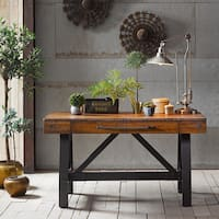 INK+IVY Lancaster Amber/ Graphite Desk
