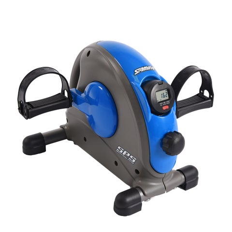 Stamina SPS Blue Mini Exercise Bike with Smooth Pedal System