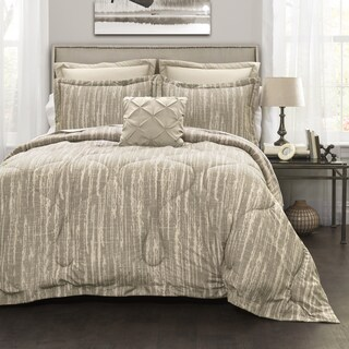 Lush Decor Grey Stripe 6-Piece Comforter Set