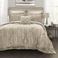 Lush Decor Grey Stripe 6-Piece Comforter Set