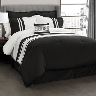 Lush Decor Modern Chic Stripe 6-Piece Comforter Set