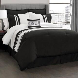 Lush Decor Modern Chic Stripe 6 Piece Comforter Set