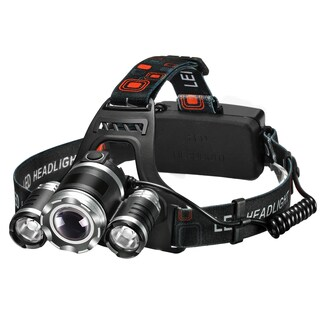 High Power Headlamp Rechargeable LED Lamp with 4 Light Modes,Perfect for Hiking Camping Riding Fishing Hunting