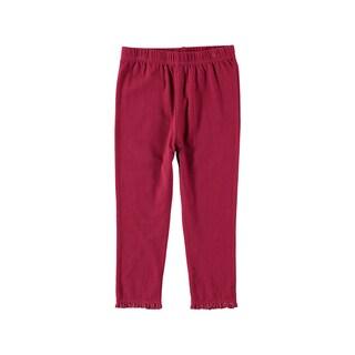 Rockin' Baby Girl's Dark Pink Cotton/Spandex Leggings