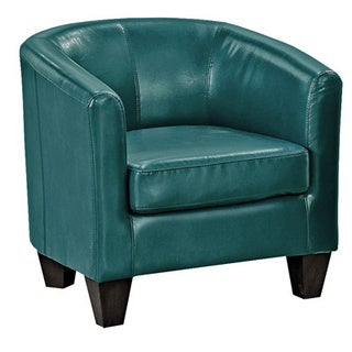 Grafton Home Ellen Peacock Bonded Leather Tub Chair