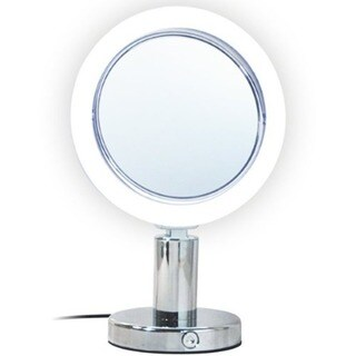 Rucci LED Lighted Chrome Stand Mirror