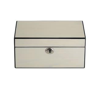 Reed & Barton Modern Lines Cream-colored Wood Jewelry Box