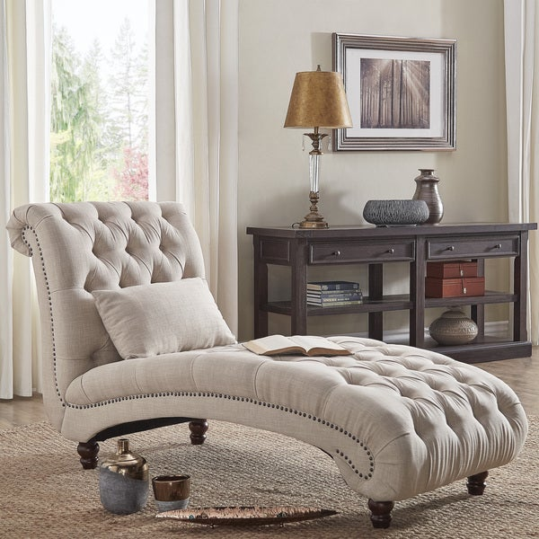 Knightsbridge Tufted Oversized Chaise Lounge by iNSPIRE Q ...