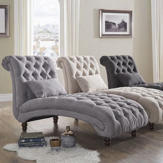 Gracewood Hollow Balogh Tufted Oversized Chaise Lounge