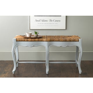 East At Main's Downy Grey Rectangular Mahogany Bench