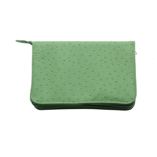 Reed & Barton Naples Green Zippered Jewelry Case