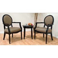 Best Master Furniture 3 Piece Accent Arm Chair and End Table Set