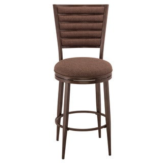 Hillsdale Furniture Roue Grey Woven Fabric Metal Swivel Barstool