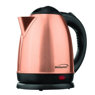 Brentwood Appliances KT-1780 Gold Rose Stainless 1.5-liter Electric Cordless Tea Kettle