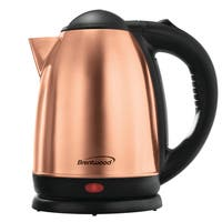 Brentwood Appliances KT-1790 Gold Rose Large Capacity Stainless 1.7-liter Electric Cordless Tea Kettle
