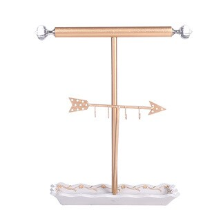 Ikee Design Golden Arrow Jewelry Display and Jewelry Stand Hanger Organizer