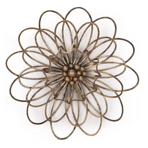 shop flower urban design metal wall decor on sale free shipping today 14105140. Black Bedroom Furniture Sets. Home Design Ideas