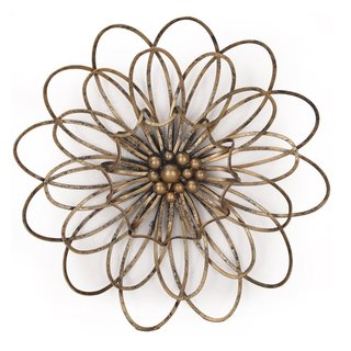 Adeco Flower Urban Design Metal Wall Decor for Nature Home Art