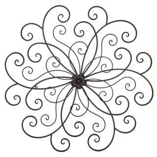 Adeco Bronze Flower Urban Design Metal Wall Decor for Nature Home Art|https://ak1.ostkcdn.com/images/products/14105145/P20712886.jpg?impolicy=medium