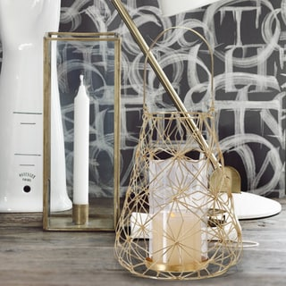 2017 New Adeco Flower Wire Lantern Candle Holder (Set of 2)