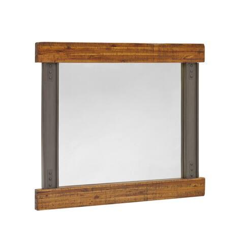"INK+IVY Lancaster Amber/Graphite Mirror - Amber/ Graphite - 42""W x 1.75""D x 36""H"