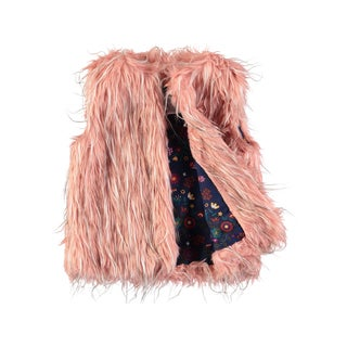 Rockin Baby Girls' Cream Faux Fur Gillet Jacket