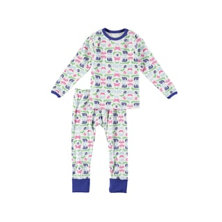 Rockin' Baby Girls' White Cotton Butterfly And Bug Print Pajama